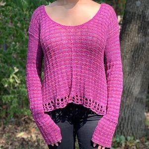 Free People BOHO sweater 💜🌸